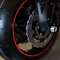 Felgenaufkleber rot Motorrad